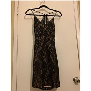 City Triangles Lace Racerback Dress